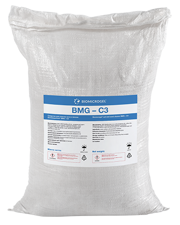 Soil cleanup agent Biomicrogel<sup>®</sup> BMG-С3